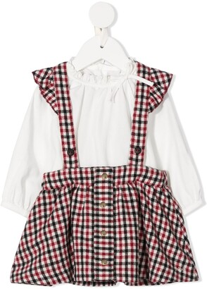 Chloé Kids Check Dungaree Dress