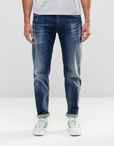 Replay 901 Tapered Jeans Stretch Dark Distressed Wash Limited Edition