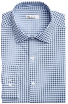 Bar III Men's Slim-Fit Performance Stretch Modern Houndstooth-Print Dress Shirt, Created for Macy's