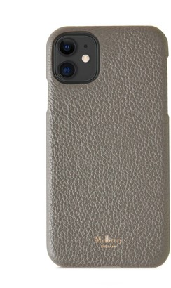 Mulberry iPhone 11 Cover Black Small Classic Grain