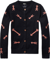 Scotch & Soda Lurex Intarsia Cardigan