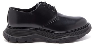 Alexander McQueen Exaggerated-sole Leather Derby Shoes - Black