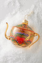 Anthropologie Gilded Teapot Ornament
