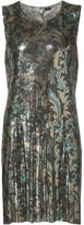 Paco Rabanne paisley mesh dress - women - Aluminium - 38