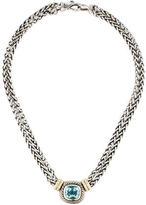 David Yurman Blue Topaz Albion Double Strand Necklace