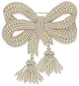 Gucci Resin pearl bow brooch