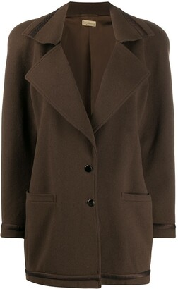 Versace Pre-Owned 1980s Buttoned Coat