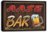 AdvPro Canvas scw3-038263 AASE Name Home Bar Pub Beer Mugs Stretched Canvas Print Sign