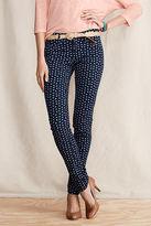 Lands' End Women's Super Skinny Patterned Pants