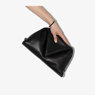Bottega Veneta Black Trine leather clutch bag