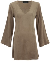 "MinkPink Women's ""Truth Potion"" Micro Suede Bell Sleeve Shift Dress"
