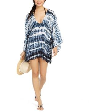 Raviya Tie Dye Batwing-Sleeve Cover-Up Dress Women's Swimsuit