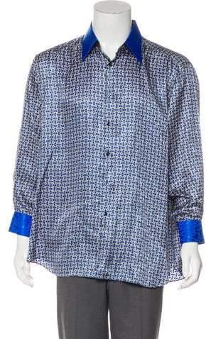 Stefano Ricci Printed Silk Contrast Shirt