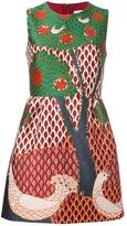 RED Valentino tree jacquard dress - women - Cotton/Polyester/Acetate - 38
