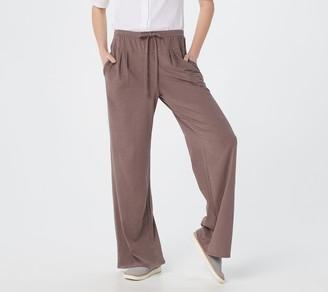 AnyBody Cozy Kind Jersey Knit Wide Leg Pant
