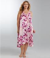 Oscar de la Renta Floral Charmeuse Gown Plus Size
