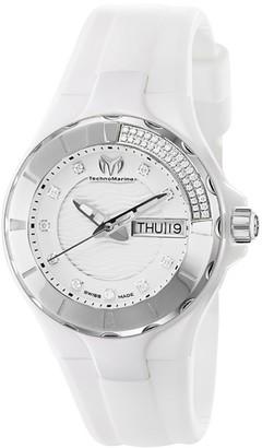 Technomarine Women's 110023 Cruise Ceramic 3 Hands White dial Watch