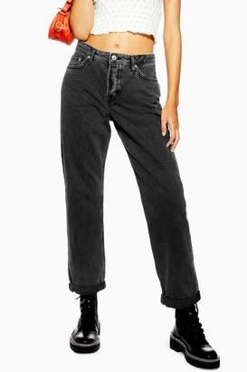 Topshop Authentic Washed Black Hayden Boyfriend Jeans