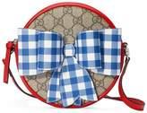 Gucci Children's check bow GG messenger
