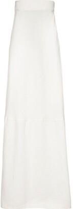 Miu Miu High-Waist Canvas Skirt