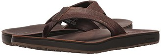 Reef Leather Contour Cushion (Chocolate) Men's Sandals