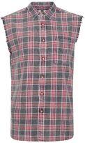Topman Charocal Check Sleeveless Shirt