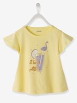 Vertbaudet Girls Printed Softly Draping T-Shirt