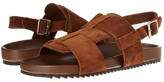 Grenson Wiley Strap Sandal (Cigar Suede) Men's Shoes