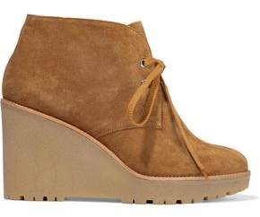 Red(V) Red(v) Suede Wedge Ankle Boots