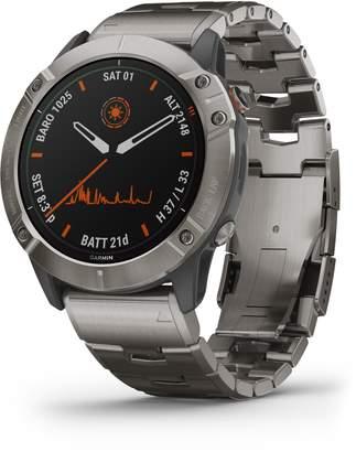 Garmin fenix(R) 6X Pro Solar Edition Titanium Smart Watch, 51mm