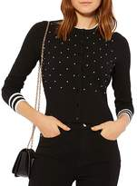 Karen Millen Faux-Pearl Embellished Cardigan