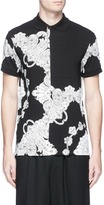 McQ by Alexander McQueen 'Phoenix Paisley' print patchwork polo shirt