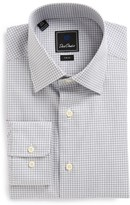 David Donahue Men's Trim Fit Check Dress Shirt