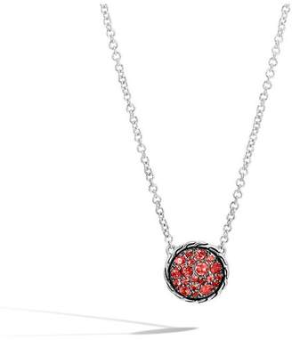 John Hardy Classic Chain Round Necklace With Red Sapphire