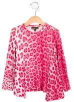 Roberto Cavalli Girls' Printed Long Sleeve Top