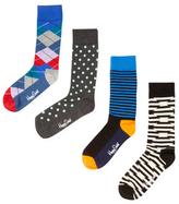 Happy Socks Combed Cotton Socks Gift Box Set (4 PK)
