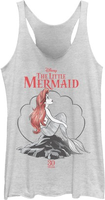 Licensed Character Juniors' Disney's Little Mermaid 30th Anniversary Tank Top