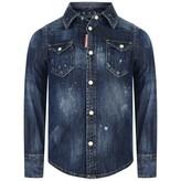 DSQUARED2 Dsquared2Girls Blue Denim Shirt