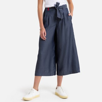 Benetton Wide Leg Culottes with Tie Belt
