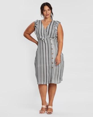Atmos & Here Stripe Midi Dress