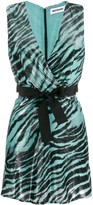 Brognano sleeveless tiger print dress