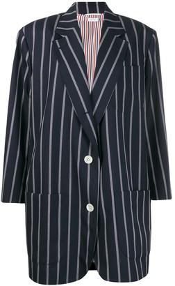 Thom Browne Vertical-Stripe Oversized Coat