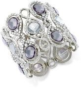 INC International Concepts Silver-Tone Crystal and Pavé Filigree Stretch Bracelet, Only at Macy's