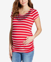 Jessica Simpson Maternity Embroidered T-Shirt