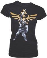 Bioworld T-Shirt Zelda Black Logo Femme Taille L - 8718526047196