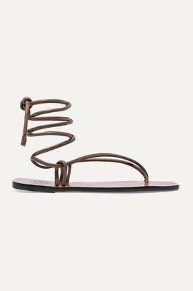 ATP ATELIER Alezio Leather Sandals - Brown