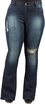 Poetic Justice Kylie Curvy Fit Flare Leg Jeans