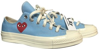 Comme des Garcons Converse X Play Blue Cloth Trainers