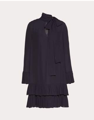 Valentino Georgette Dress With Ruffles