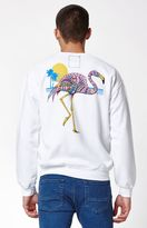 Riot Society Flamingo Crew Neck Sweatshirt